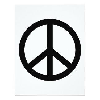 Black Peace Sign Card