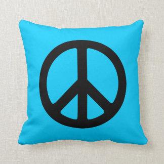 Black Peace Sign Pillow