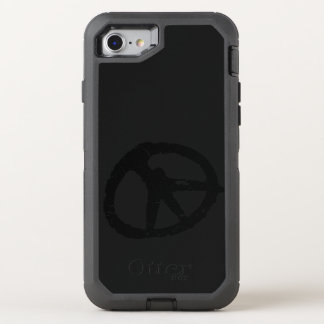 black peace sign ripped art OtterBox defender iPhone 7 case