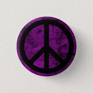 Black Peace Symbol Button