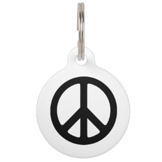 Black Peace Symbol Template Pet Tag