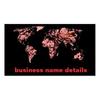 Black peach atlas business cards