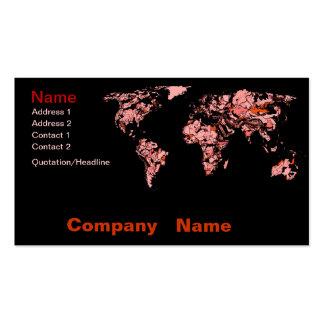 Black peach atlas business card templates