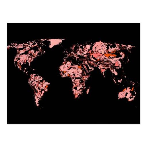 Black peach atlas postcard