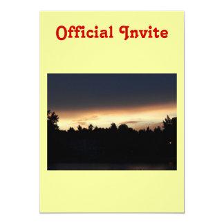 Black Peach Sunset Over Lake Swan Georgia Card