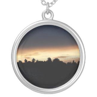 Black Peach Sunset Over Lake Swan Georgia Custom Necklace
