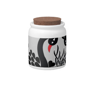 black peacock candy jar