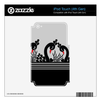 black peacock decal for iPod touch 4G