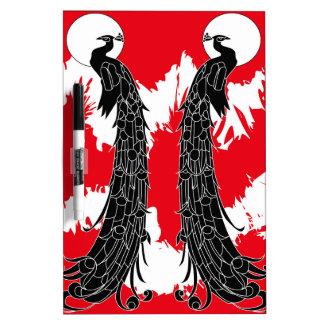 Black peacock Dry-Erase board