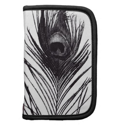 Black Peacock Feather Sill Life Folio Planners