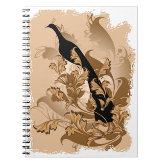 Black Peacock Notebook