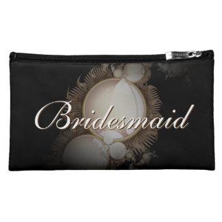 Black Pearl Bridesmaid Makeup Bag