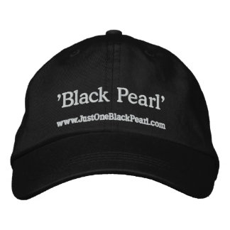 'Black Pearl' Embroidered Hat