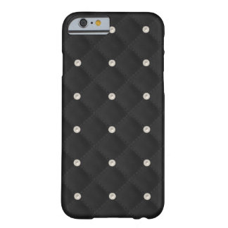 Black Pearl Stud Quilted Barely There iPhone 6 Case