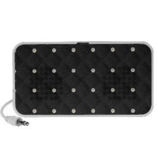 Black Pearl Stud Quilted Travelling Speaker