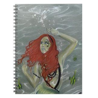 Black Pearls Mermaid Notebook