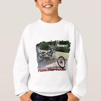 """Black Pedal Chopper Motorized Bike-""""Sweet!"""" Sweatshirt"""