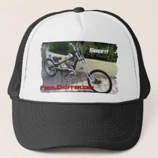 """Black Pedal Chopper Motorized Bike-""""Sweet!"""" Trucker Hat"""