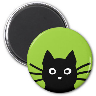Black Peeking Cat Magnet