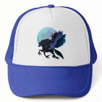 Black Pegasus and Blue Moon Hat