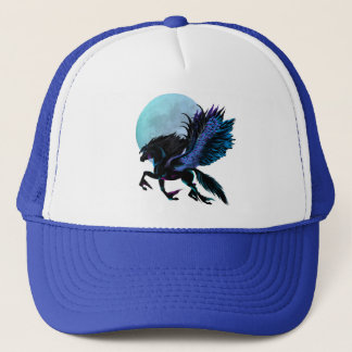 Black Pegasus and Blue Moon Hat