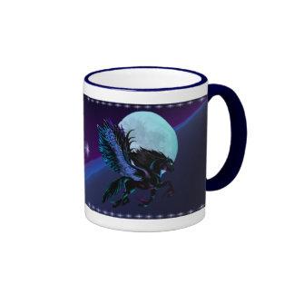 Black Pegasus and Blue Moon Mug