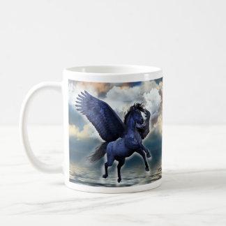 Black Pegasus Basic White Mug