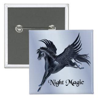 Black Pegasus 2 Inch Square Button