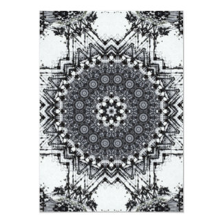Black Pen Sketch Abstract Mandala Card