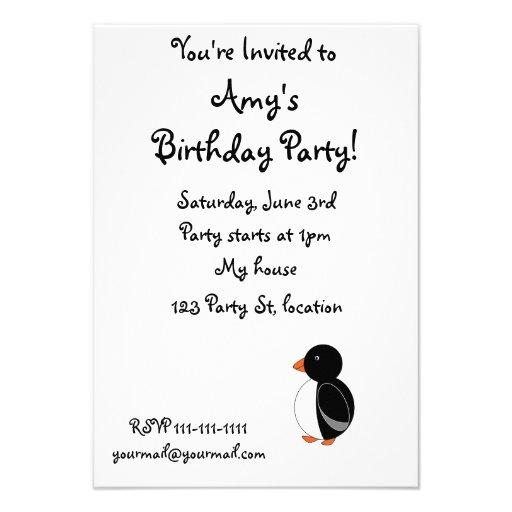 Black penguin personalized announcement