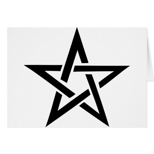 black pentacle pentagram devil 666 card