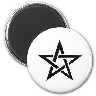 black pentacle pentagram devil 666 magnet