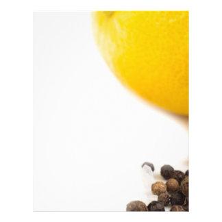 Black pepper and lemon letterhead
