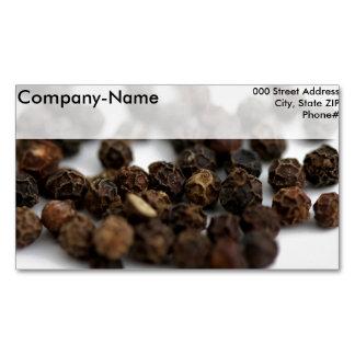 Black Pepper Business Card Magnet