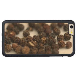 Black Pepper Carved Maple iPhone 6 Plus Bumper Case