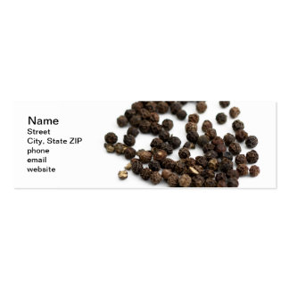Black Pepper Corns Double-Sided Mini Business Cards (Pack Of 20)