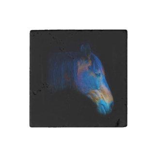 Black Percheron Horse Horse-lovers Equine Photo Stone Magnet