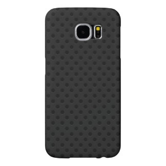 Black Perforated Fiber Samsung Galaxy S6 Cases