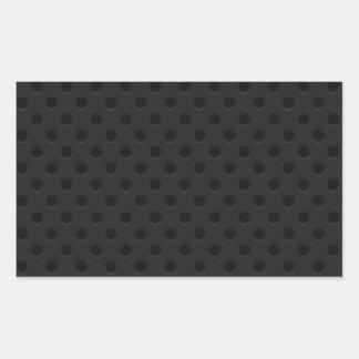 Black Perforated Pinhole Kevlar Carbon Fiber Rectangular Sticker