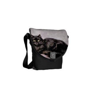 Black Persian Cat Messenger Bag
