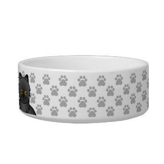 Black Persian Cat Pet Water Bowls