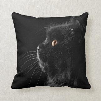 Black Persian Cat Pillows