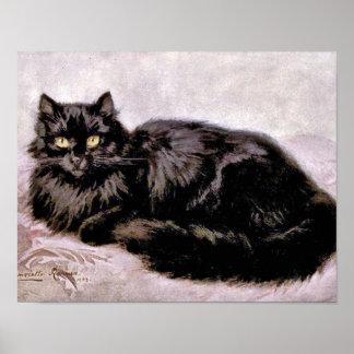 Black Persian Cat Poster