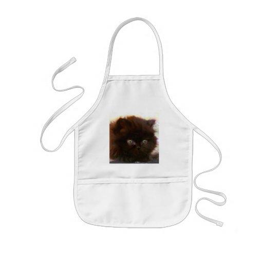 Black Persian Kitten apron