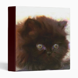 Black Persian Kitten Binder