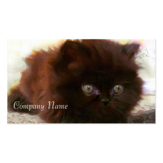 Black Persian Kitten Business Cards