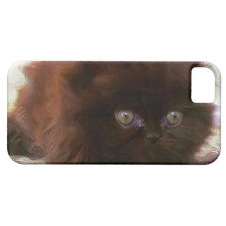 Black persian kitten iPhone 5 cover