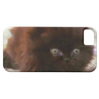 Black persian kitten iPhone SE/5/5s case