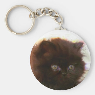 Black Persian Kitten keychain