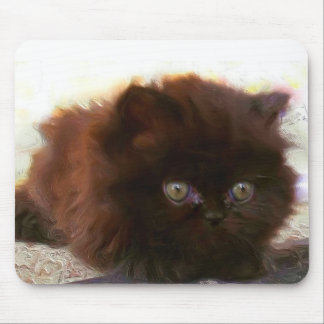 Black Persian Kitten mousepad